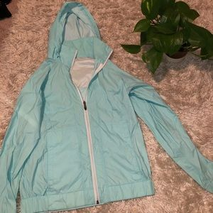 Women's Columbia baby blue rain coat